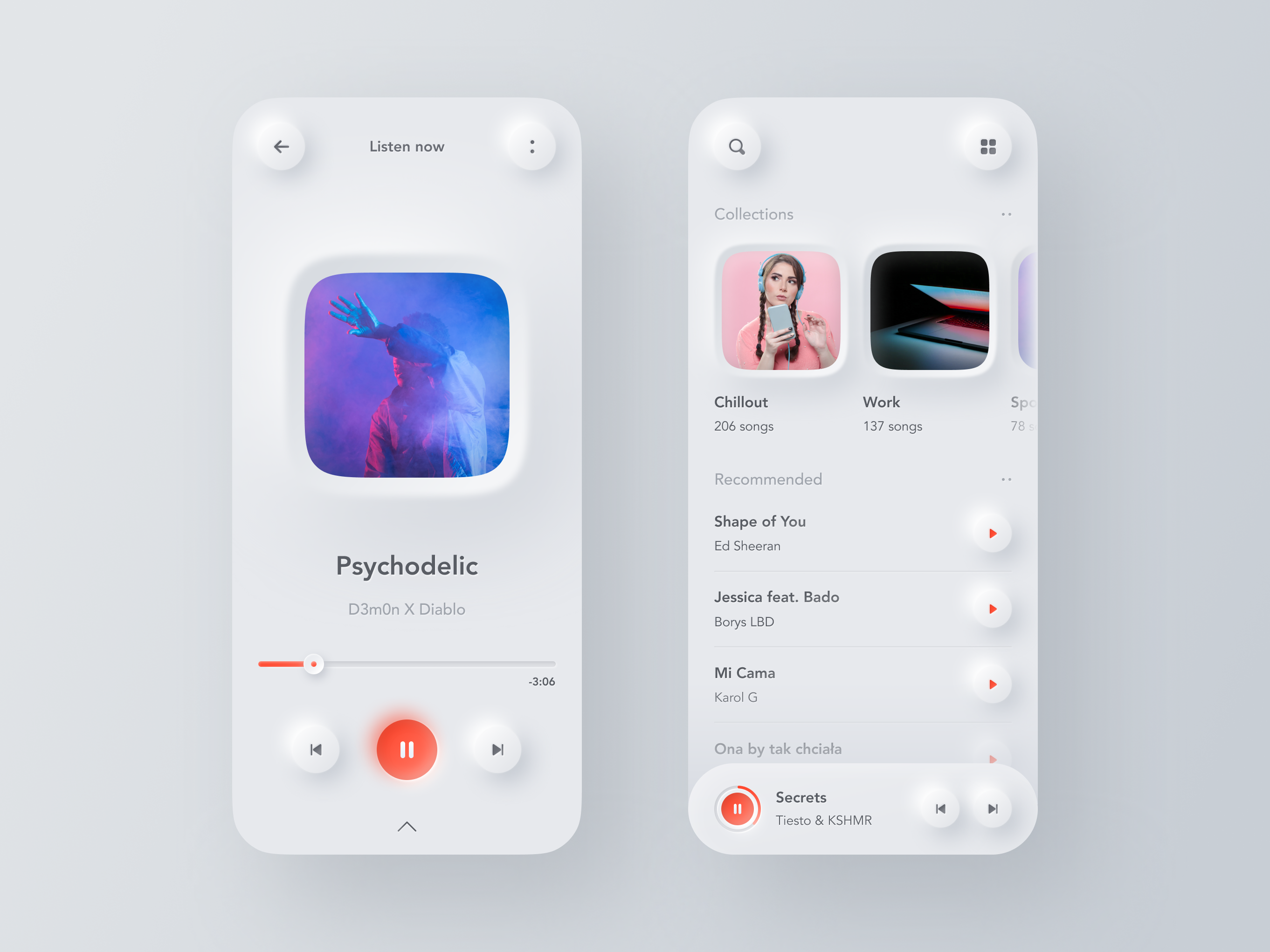 Neumorphic Music Player