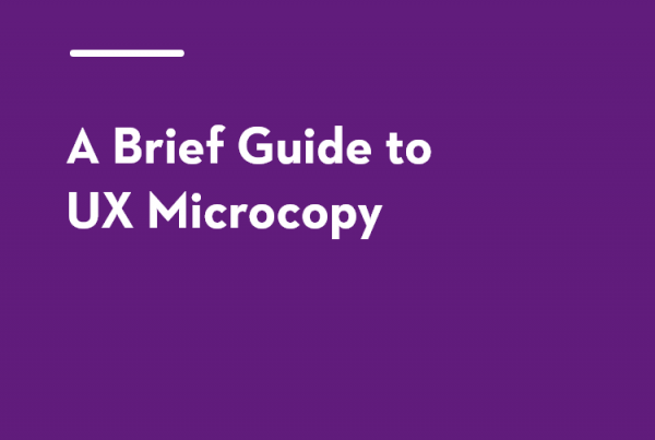 A brief guide to UX microcopy