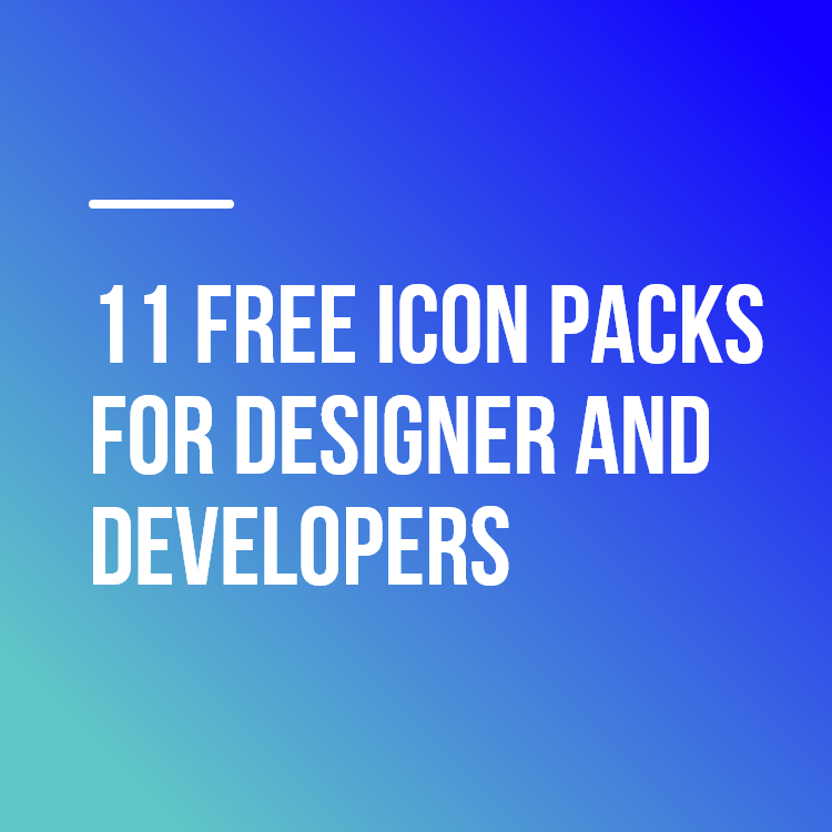 11 Free Icon Packs for designer and developers