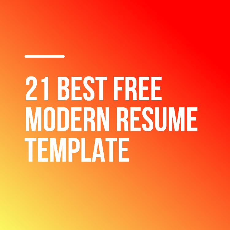 21 BestFree ModernResume Template