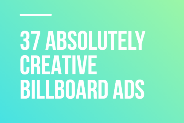 37 Absolutely Creative Billboard Ads