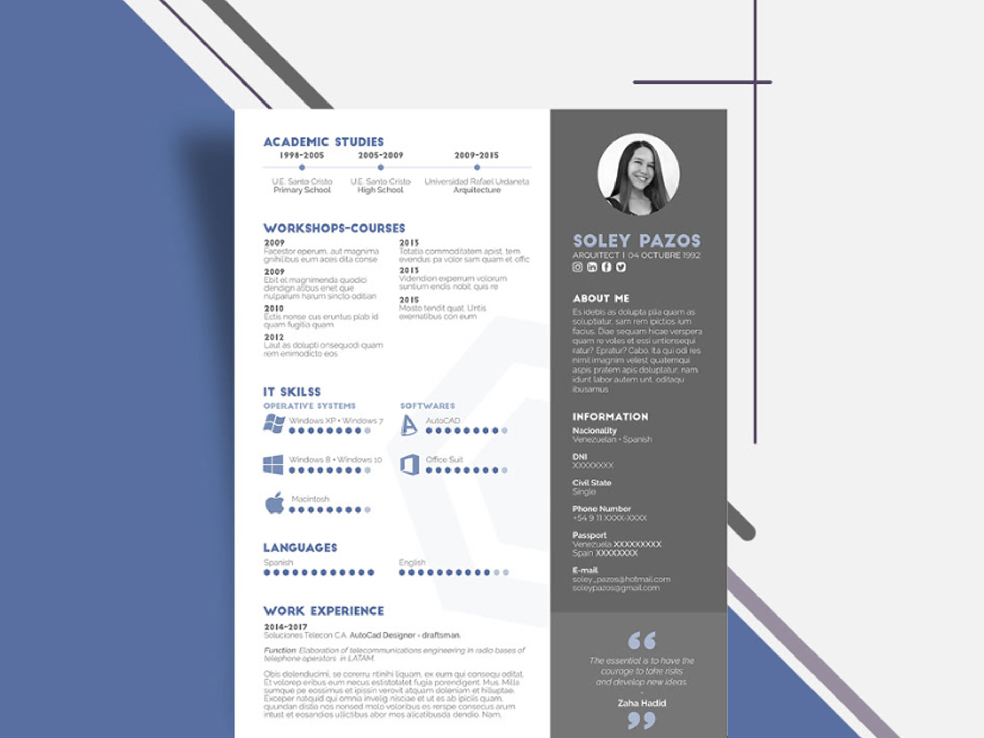 Simple Two Column Resume Template