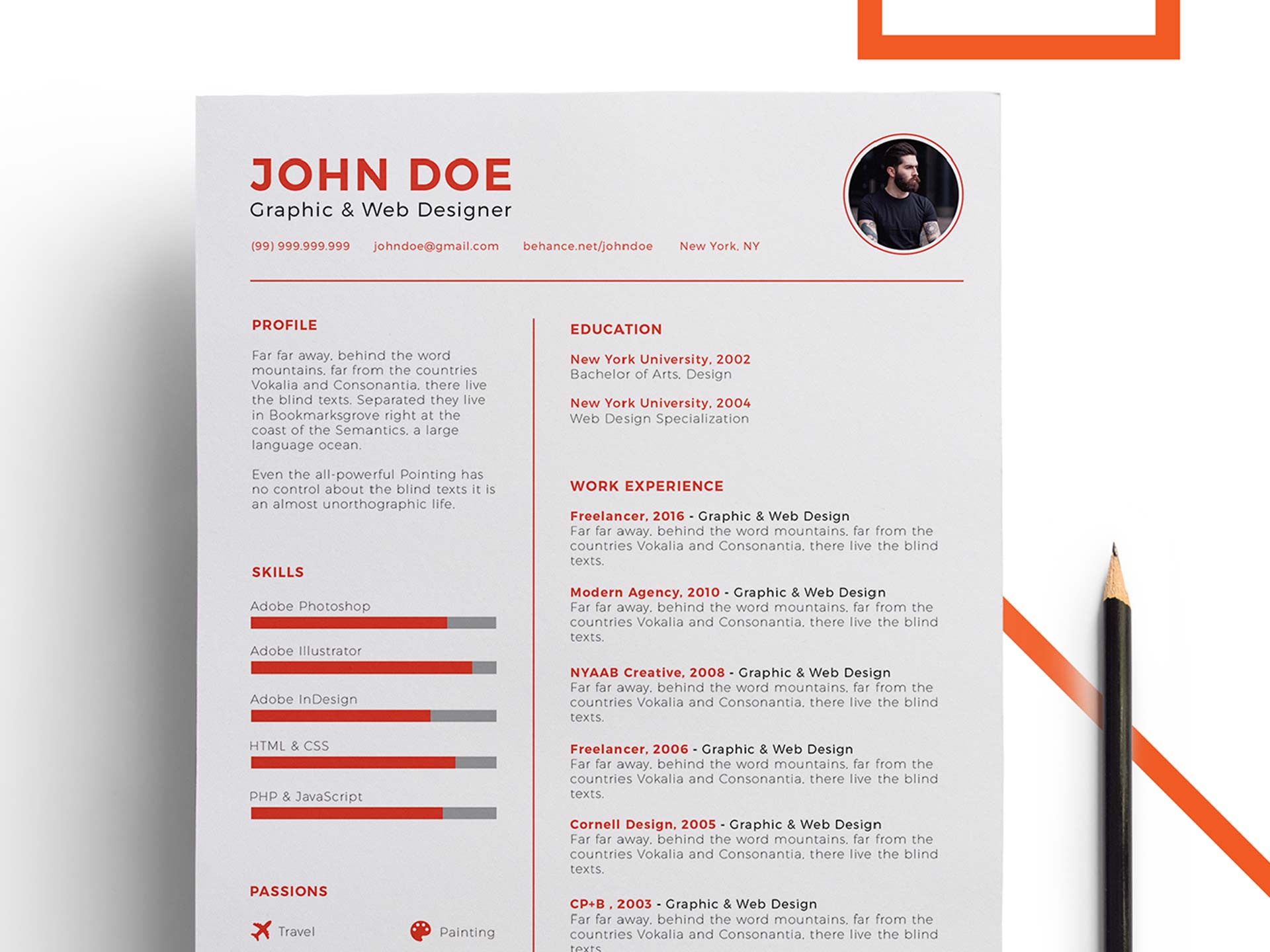 Free Power Point Resume Template