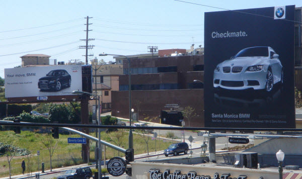 Audi and BMW Billboard