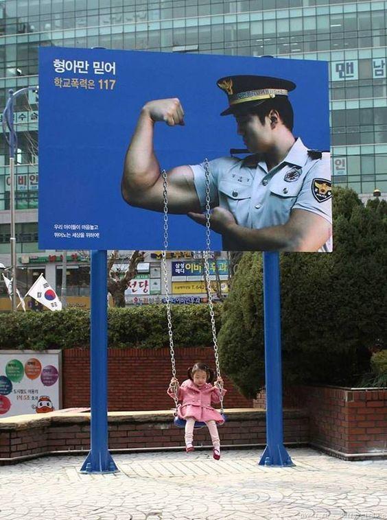 Korean Police Billboard