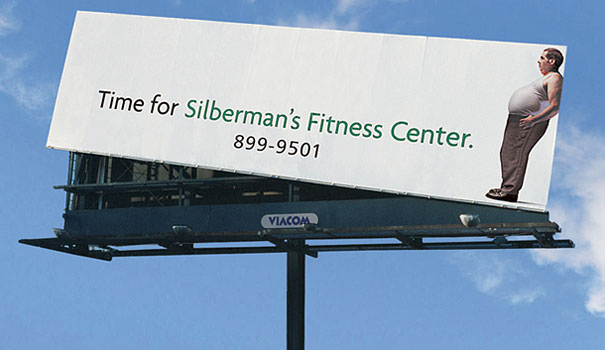 Silberman's Fitness Center Billboard