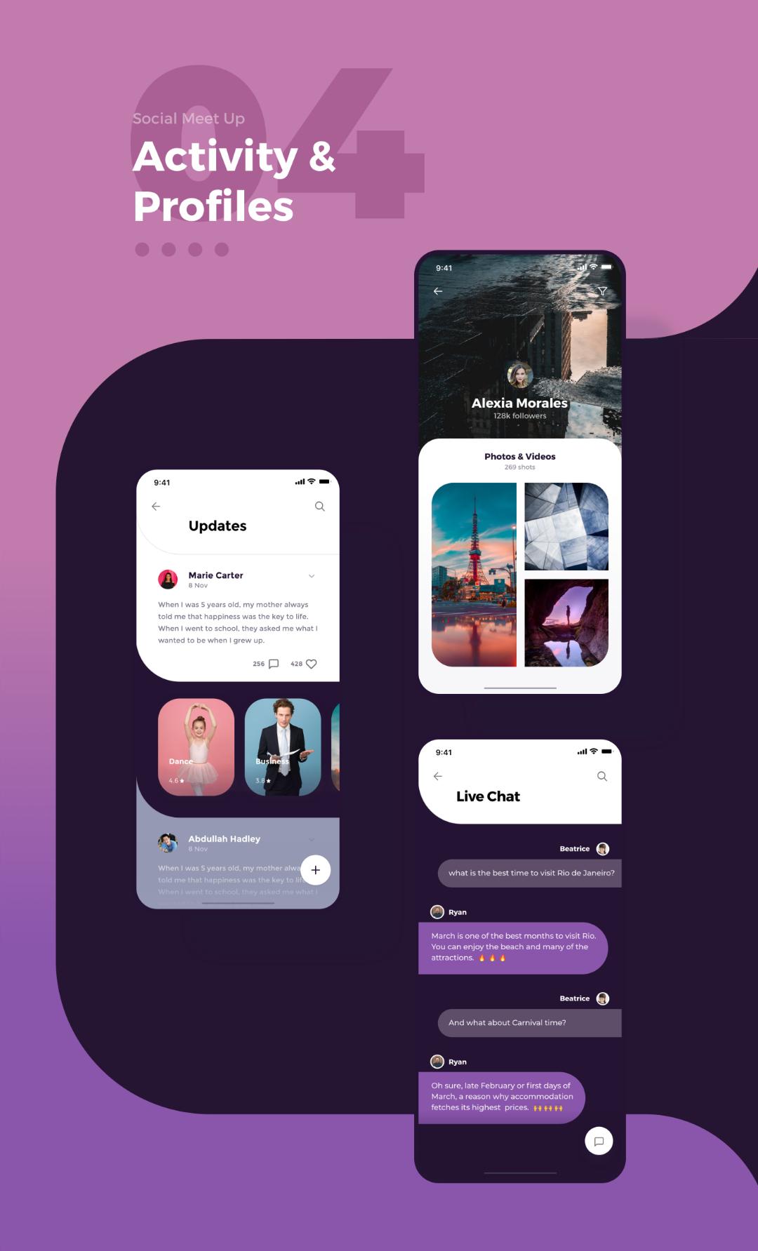 Social Meet Up UI Kit FREE for Adobe XD