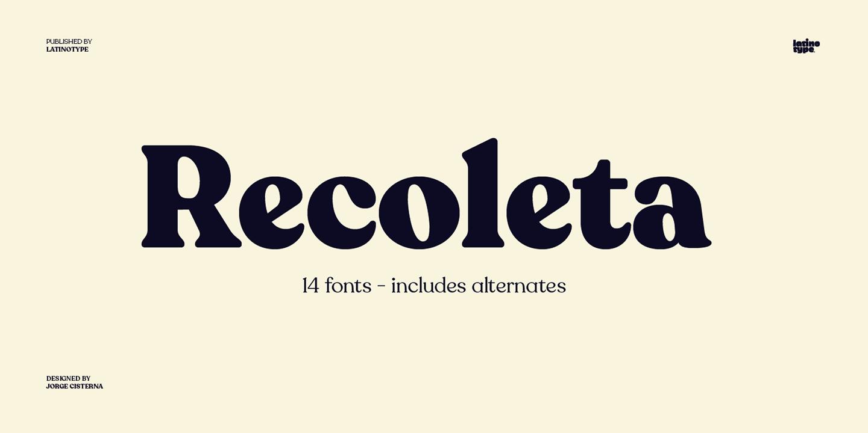 Recoleta Font Trends 2020