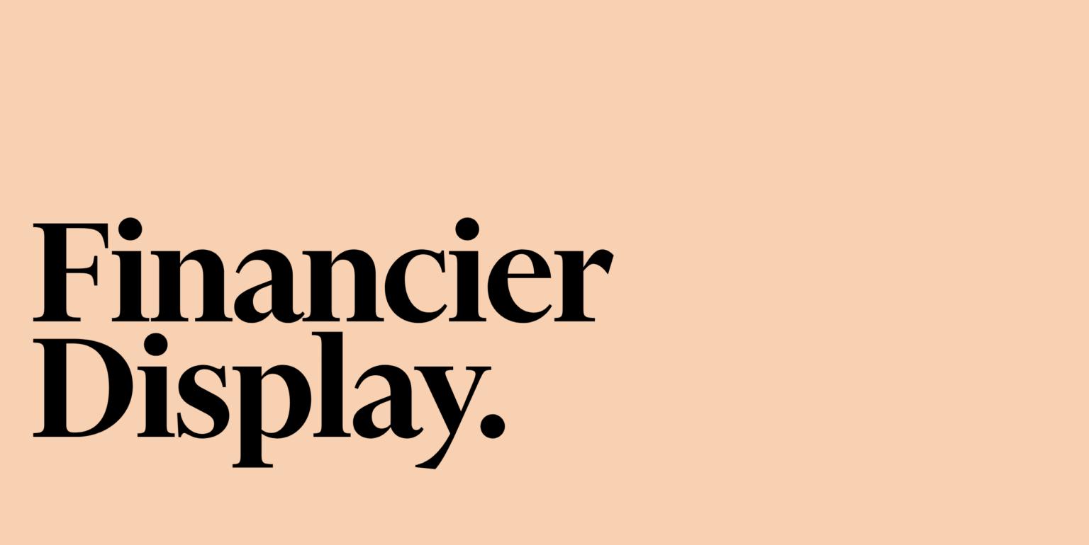 Financier Display