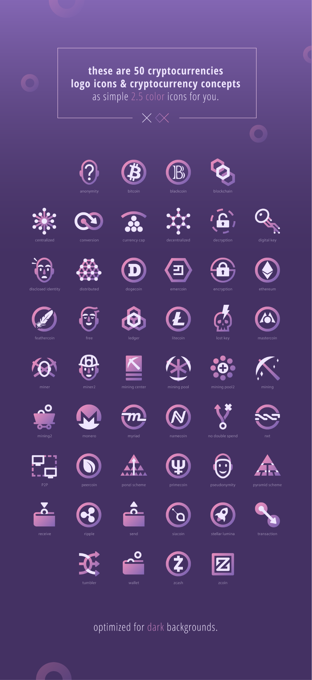 Free cryptocurrencies icons pack