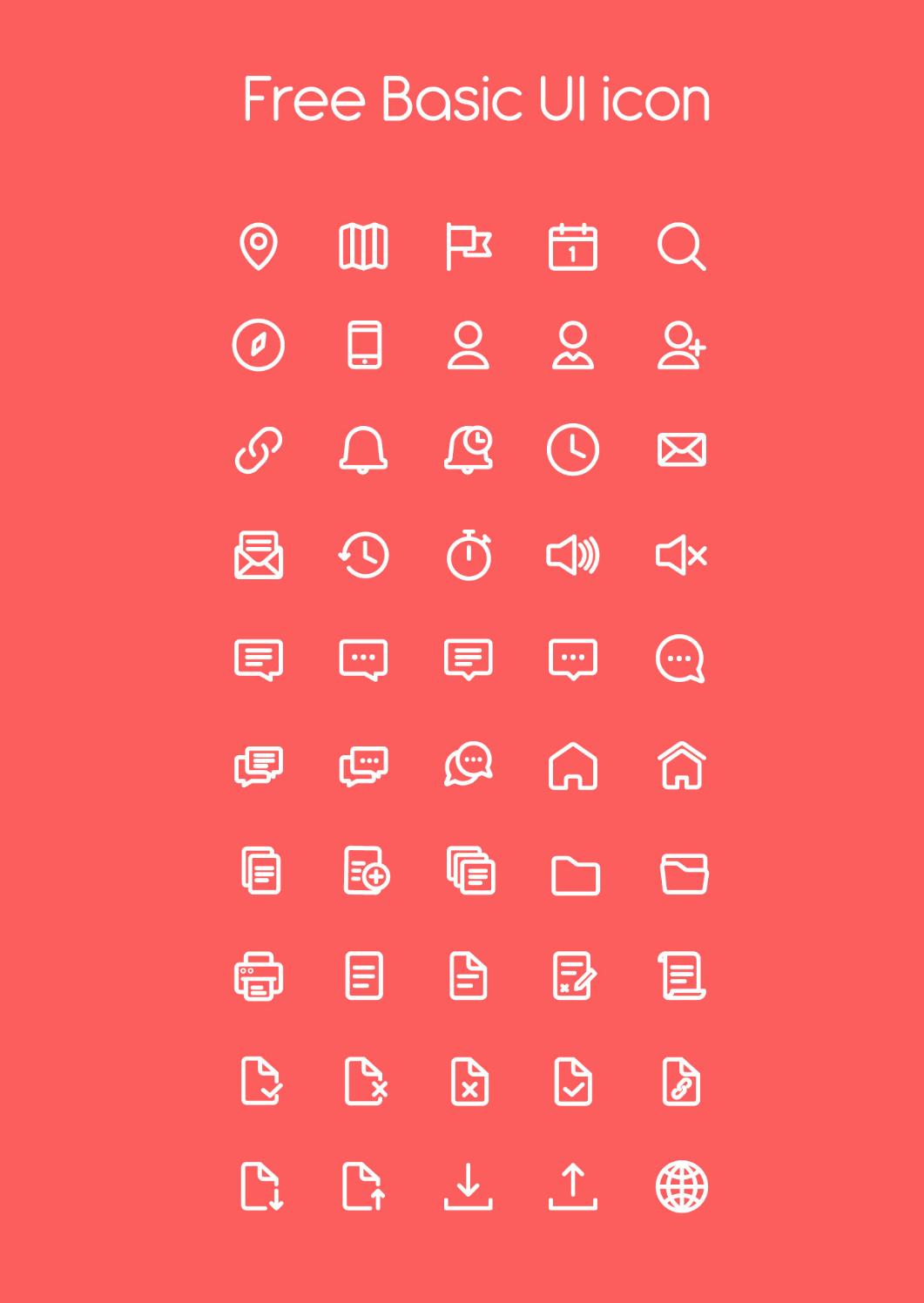 Free basic UI icons