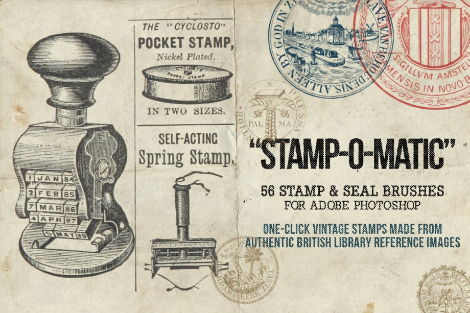 56 Vintage Stamps and Seals