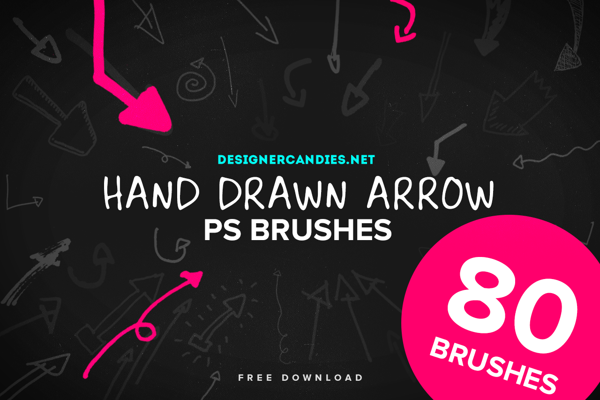 80 Free Hand Drawn Arrow Brushes