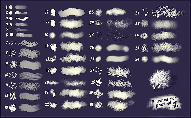 36 Drawing Brushes