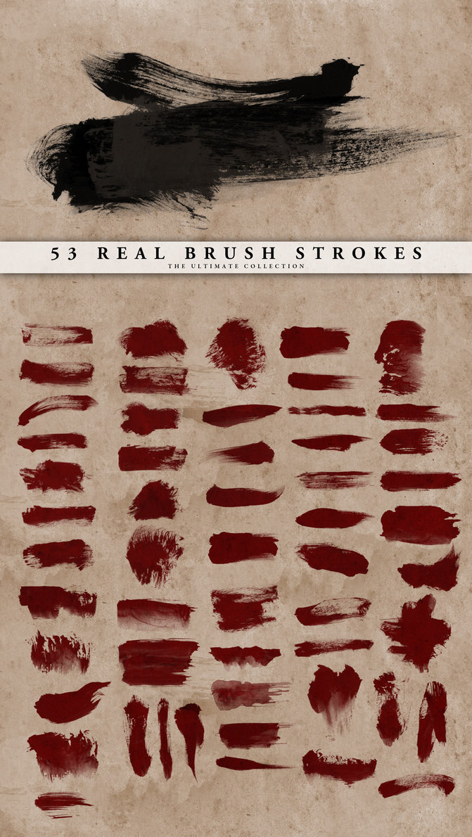 Real Brush Strokes Set (53)