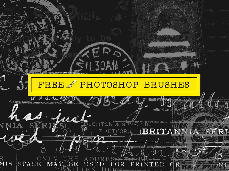 29 Ink and Postage Stamp Photoshop Brushes