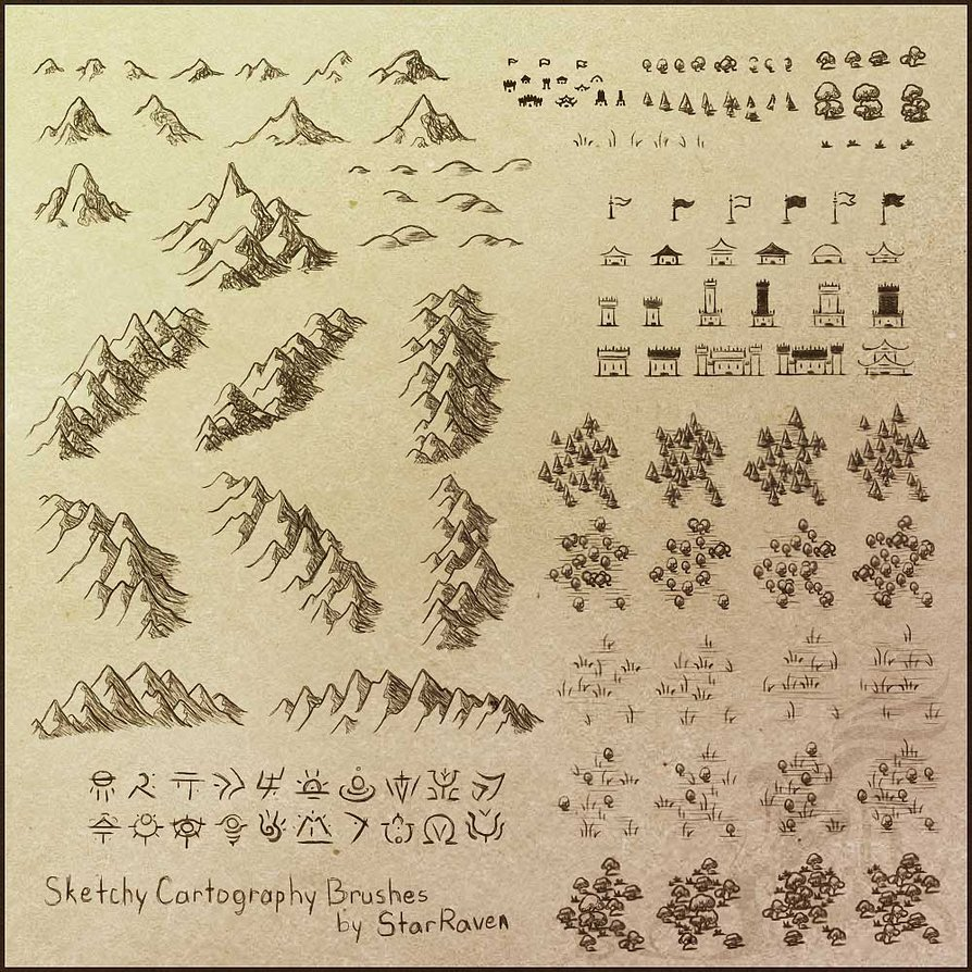 Sketchy Cartography Brushes (44)