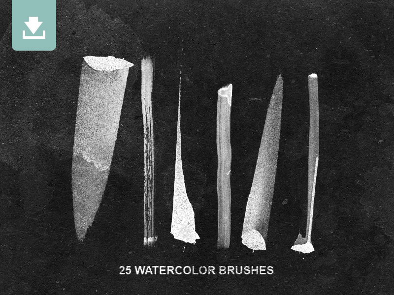 25 Watercolor Photoshop Brushes