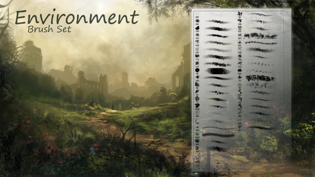 39 Environment-Brushes by TheEchoDragon