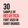 30 Sample of Helvetica Font used in Giant Brands