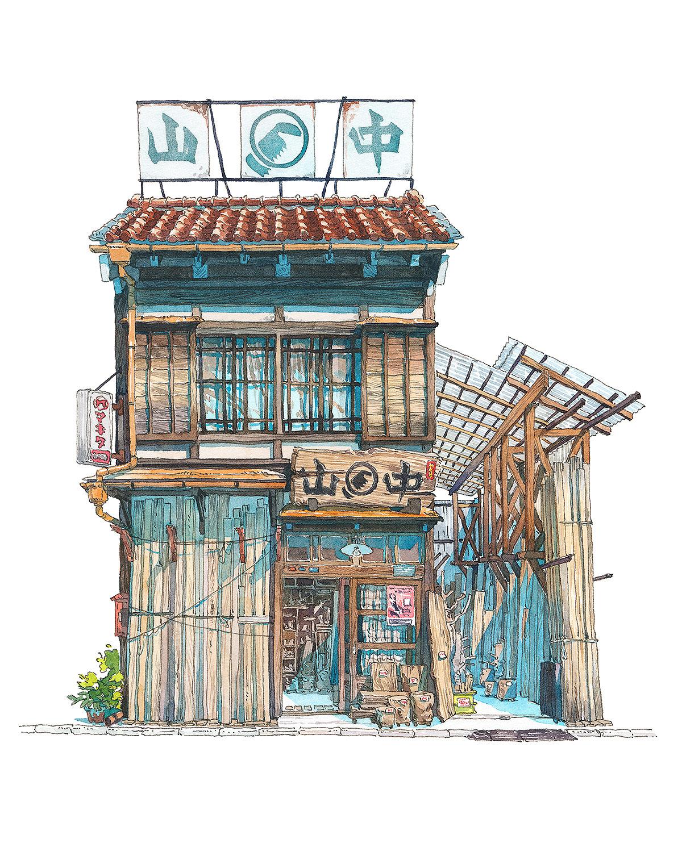 Architecture,Illustration,Painting